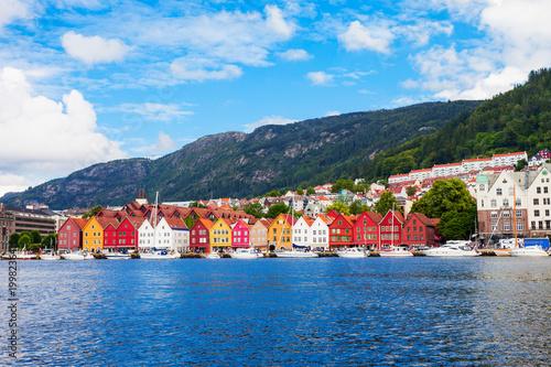 Garden Poster Scandinavia Bryggen dock in Bergen