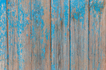 Old wooden texture with shabby blue paint
