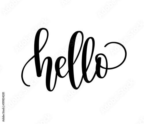 Photo Hello lettering design