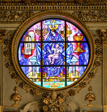 Rose Window Of The Basilica Of...
