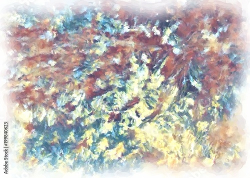 Fototapety, obrazy: Watercolor painting abstract texture.
