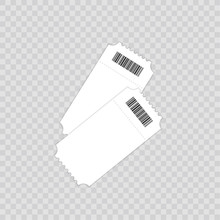 Ticket Template. Isolated On A Transparent Background. Vector Illustration.