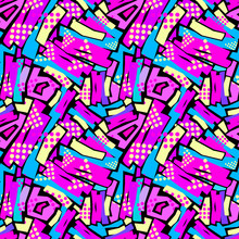 Seamless Urban Funky Textile ...