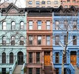 Fototapeta Nowy York - Colorful historic buildings in Manhattan New York City