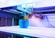 canvas print picture - Three dimensional printing machine,3D printer.