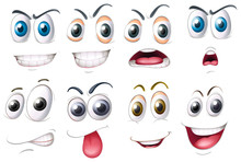 Different Set Of Eyes With Emotions