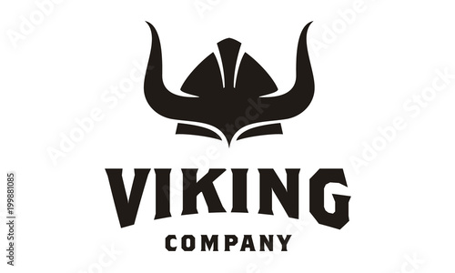Viking Armor Helmet logo design, for Boat Ship, Cross Fit, Gym, Game Club, Sport Canvas Print