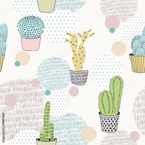 wektor-recznie-rysowane-bezszwowe-tlo-wzor-kaktusa