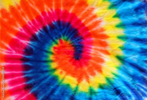 Fotografie, Obraz  close up tie dye fabric pattern background