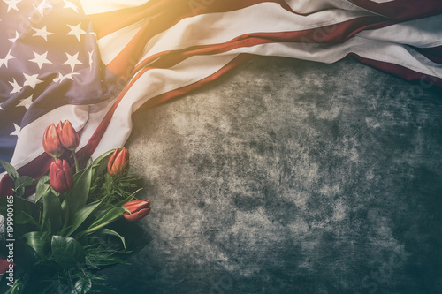 Fotografía American flag for Memorial Day, 4th of July, Labour Day