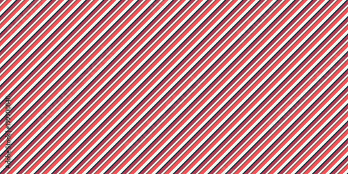 Fotografie, Obraz  Red Seamless Inclined Stripes Background