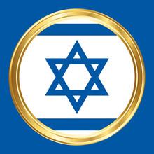 Israel Flag. Vector Symbol.