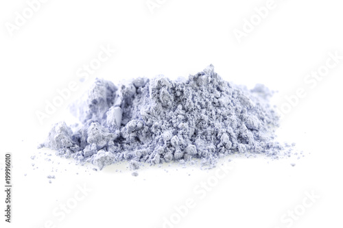 Fotografie, Tablou Blue powder gypsum dental on white background