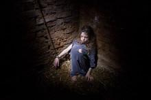 Violence Over The Child. Slave...