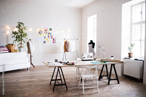Photo  Interior of a studio, startup business.