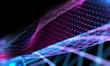 canvas print picture - Fondo abstracto de ciencia y tecnología.Maya o red y patrón de lineas.