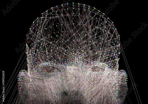 Fotografie, Obraz  Inteligencia artificial y aprendizaje de maquinas