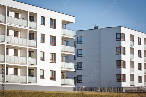 Obraz Osiedle mieszkaniowe - fototapety do salonu