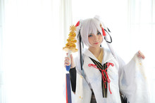 Japan Anime Cosplay , White Ja...