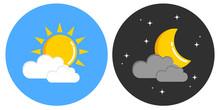 Tag Und Nacht Wetter Grafik