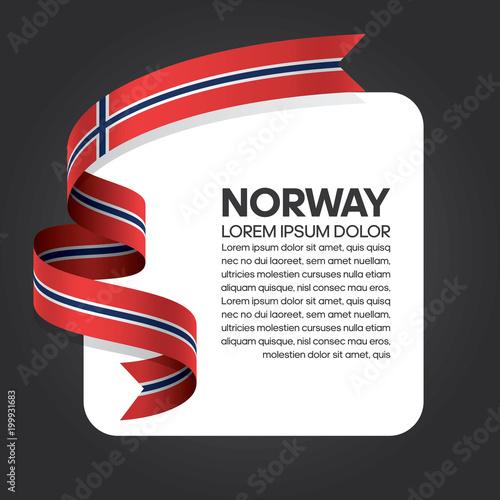 Photo  Norway flag background