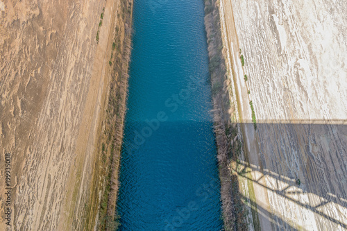 Fotografia, Obraz View of the Corinth canal in Greece.