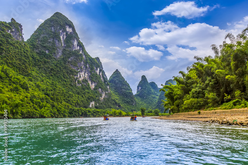 Foto op Canvas Guilin The beautiful landscape of the Lijiang River in Guilin