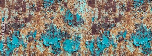 Obraz na plátně banner rusty old metal cracked texture