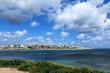 Spring time at Saint Thomas Bay of Marsaskala and the Mediterranean Sea in Malta