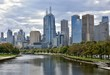 Melbourne city skyline from the Swan Street Bridge, looking out over the Yarra River