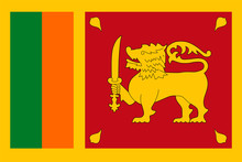 Sri Lanka Flag Vector Flat Icon