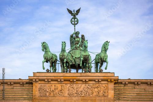 Quadriga of the Brandenburg Gate in Berlin, Germany Poster