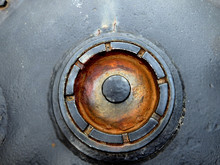Vintage Round Old Tank Hatch