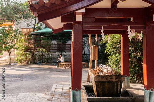 Fotografija  Temizuya water ablution pavilion at Naminoue shrine, Naha, Okinawa