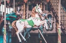 An Old Fashioned Carousel In N...