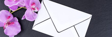 Blank Mourning Card With Orchi...