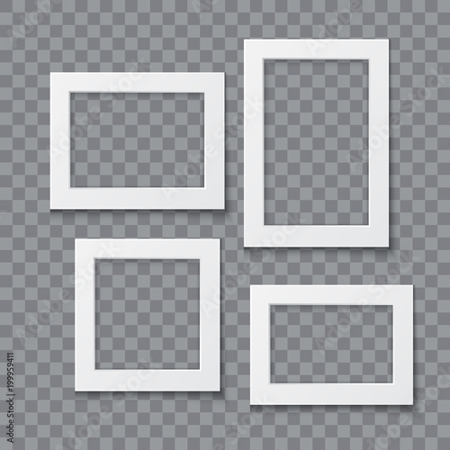 Fototapeta Photo frame vector realistic illustration obraz na płótnie