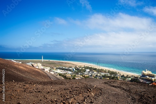Tuinposter Canarische Eilanden View on a landscape in Morro Jable, Fuerteventura, Spain.