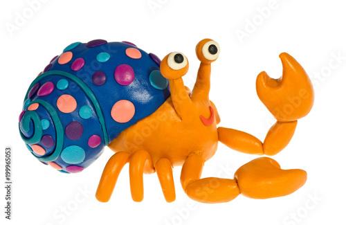 Funny plasticine Hermit crab