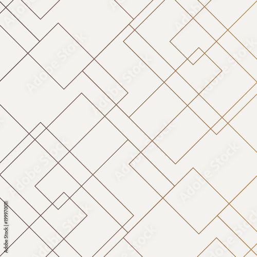 Photo  Geometric vector pattern, repeating thin linear square diamond shape and rectangle