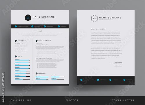 Professional CV Resume Template Design And Letterhead