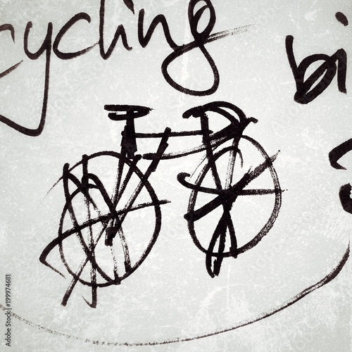 Foto op Plexiglas Fietsen Radsport