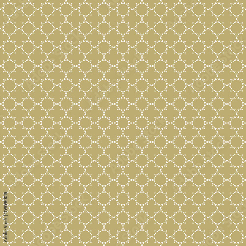 Fancy Gold And White Ornate Background