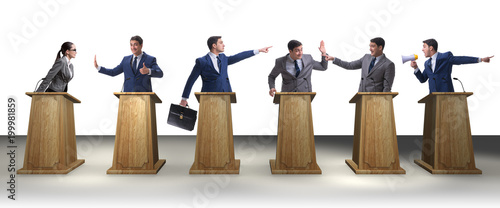 Photo Politicians participating in political debate