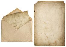 Old Paper Page Vintage Envelop...