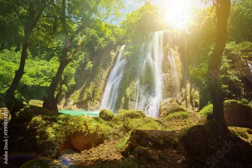 Beautiful Cikaso waterfall landscape