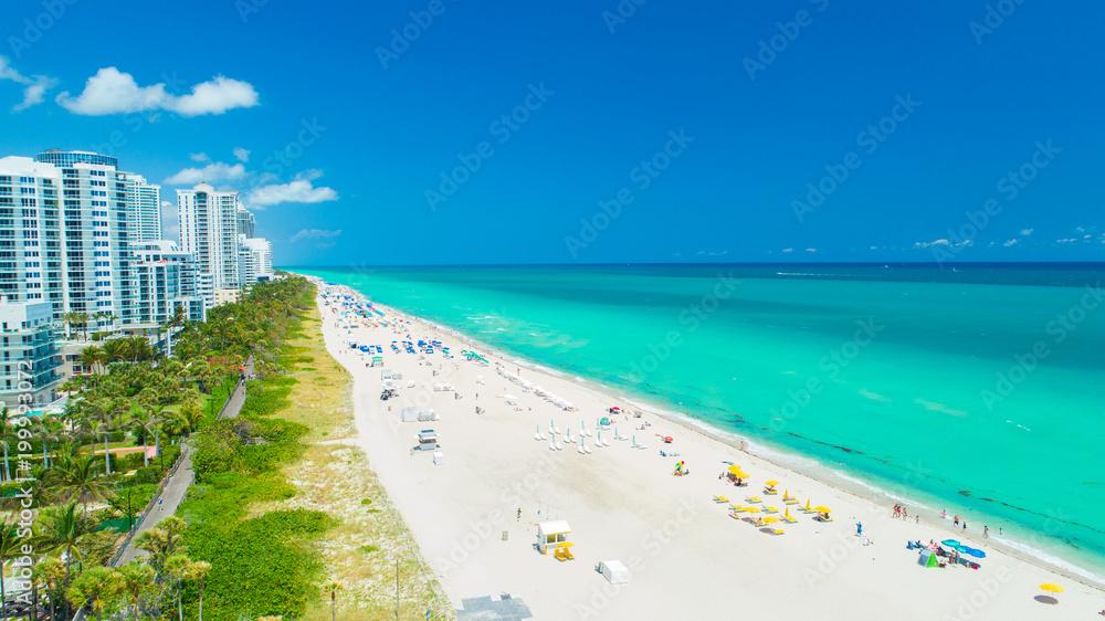Fototapety, obrazy: Aerial view of South Beach, Miami Beach, Florida. USA