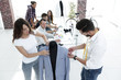 designers working on new models of clothes