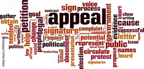 Appeal word cloud Canvas Print