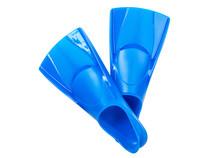 Blue Flippers On White Backgro...